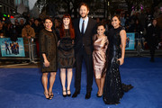 (L-R) Actors  Deborah Mailman, Shari Sebbens, Chris O'Dowd, Miranda Tapsell and Jessica Mauboy attends the premiere of 'The Sapphires' during the 56th BFI London Film Festival at Odeon West End on October 15, 2012 in London, England.