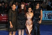 Jessica Mauboy, Miranda Tapsell, Shari Sebbens and Deborah Mailman attend the Premiere of 'The Sapphires' during the 56th BFI London Film Festival at Odeon West End on October 15, 2012 in London, England.