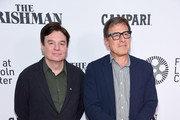 "Mike Myers and David O Russell attend ""The Irishman"" screening during the 57th New York Film Festival at Alice Tully Hall, Lincoln Center on September 27, 2019 in New York City."