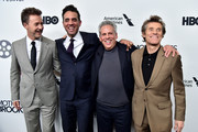 """(L-R) Actors Edward Norton, Bobby Cannavale, Josh Pais and Willem Dafoe attend the """"Motherless Brooklyn"""" Arrivals during the 57th New York Film Festival on October 11, 2019 in New York City."""