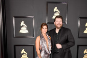 Singers Cassadee Pope (L) and Chris Young attend The 59th GRAMMY Awards at STAPLES Center on February 12, 2017 in Los Angeles, California.