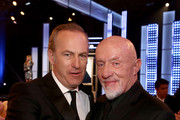 Actors Bob Odenkirk (L) and Jonathan Banks attend the 5th Annual Critics' Choice Television Awards at The Beverly Hilton Hotel on May 31, 2015 in Beverly Hills, California.