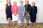 (L-R) Ami Kaplan, Tina Brown, Emily Rafferty, Deborah Norville and Linda Willett attend the 5th Annual Elly Awards hosted by the Women's Forum of New York honoring Tina Brown & Emily Rafferty at The Plaza Hotel - 5th Avenue on June 22, 2015 in New York City.