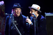 Neil Young and Chris Stills perform during the 5th Annual Light Up The Blues Concert an Evening of Music to Benefit Autism Speaks at Dolby Theatre on April 21, 2018 in Hollywood, California.