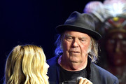 Sheryl Crow and Neil Young perform during the 5th Annual Light Up The Blues Concert an Evening of Music to Benefit Autism Speaks at Dolby Theatre on April 21, 2018 in Hollywood, California.