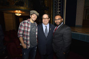 Jason Mraz, Blake Farenthold, Chris Randle attends the 60th Annual GRAMMY Awards - GRAMMY Congressional Briefing at Brooks Atkinson Theatre on January 27, 2018 in New York City.
