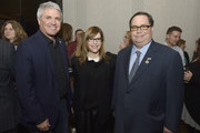 Lisa Loeb, Blake Farenthold and guest at the 60th Annual GRAMMY Awards - GRAMMY Congressional Briefing at Brooks Atkinson Theatre on January 27, 2018 in New York City.
