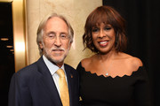 Recording Academy President/CEO Neil Portnow and TV personality Gayle King attend the Producers and Engineers Wing 11th Annual GRAMMY Week Event Honoring Swizz Beatz And Alicia Keys at The Rainbow Room on January 25, 2018 in New York City.