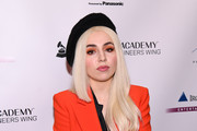 Singer Ava Max attends the Producers and Engineers Wing 11th Annual GRAMMY Week Event Honoring Swizz Beatz And Alicia Keys at The Rainbow Room on January 25, 2018 in New York City.