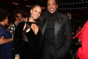 Recording artists Alicia Keys (L) and Jay-Z attend the 60th Annual GRAMMY Awards at Madison Square Garden on January 28, 2018 in New York City.