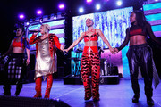 Tionne 'T-Boz' Watkins and Rozonda 'Chilli' Thomas of TLC (C) perform onstage at the GRAMMY Celebration durring the 61st Annual GRAMMY Award at Staples Center on February 10, 2019 in Los Angeles, California.