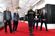 (L-R) President of The Recording Academy Neil Portnow, Executive producer Ken Ehrlich, Alicia Keys, Grammys Talent Producer Chantel Saucedo, and Executive Vice President, Specials, Music and Live Events, CBS Entertainment, Jack Sussman attend the 61st Annual GRAMMY Awards Red Carpet Roll Out and Preview Day during the 61st Annual GRAMMY Awards at Staples Center on February 07, 2019 in Los Angeles, California.
