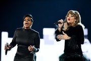 Fantasia and Andra Day during the 61st Annual GRAMMY Awards at Staples Center on February 10, 2019 in Los Angeles, California.