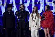 (L-R) Craig Alvin, Shawn Everett, Ian Fitchuk, and Kacey Musgraves accept Album of the Year for 'Golden Hour' onstage during the 61st Annual GRAMMY Awards at Staples Center on February 10, 2019 in Los Angeles, California.
