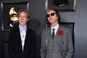 (L-R) Cosimo Henri and Beck attend the 62nd Annual GRAMMY Awards at Staples Center on January 26, 2020 in Los Angeles, California.