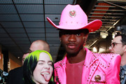 (L-R) Billie Eilish and Lil Nas X attend the 62nd Annual GRAMMY Awards at STAPLES Center on January 26, 2020 in Los Angeles, California.