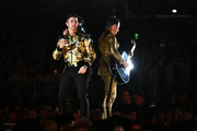 (L-R) Nick Jonas and Kevin Jonas of music group Jonas Brothers perform onstage during the 62nd Annual GRAMMY Awards at STAPLES Center on January 26, 2020 in Los Angeles, California.