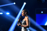 Host Alicia Keys speaks onstage  during the 62nd Annual GRAMMY Awards at STAPLES Center on January 26, 2020 in Los Angeles, California.