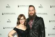 (L-R) Lisa Loeb and Roey Hershkovitz attend the Producers & Engineers Wing 13th annual GRAMMY week event honoring Dre. Dre at Village Studios on January 22, 2020 in Los Angeles, California.