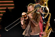 Trombone Shorty performs onstage during the 62nd Annual GRAMMY Awards at STAPLES Center on January 26, 2020 in Los Angeles, California.