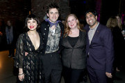 (L-R) Eva Noblezada, Reeve Carney, Julie James and guest attend the 62nd GRAMMY Nominee Celebration on January 13, 2020 in New York City.