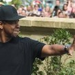 Denzel Washington Greets His Adoring Public