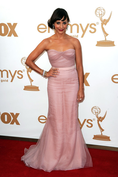 Actress Rashida Jones arrives at the 63rd Annual Primetime Emmy Awards held at Nokia Theatre L.A. LIVE on September 18, 2011 in Los Angeles, California.