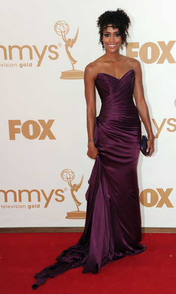 Actress Annie Ilonzeh arrives at the 63rd Annual Primetime Emmy Awards held at Nokia Theatre L.A. LIVE on September 18, 2011 in Los Angeles, California.