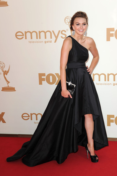 Actress Aimee Teegarden arrives at the 63rd Annual Primetime Emmy Awards held at Nokia Theatre L.A. LIVE on September 18, 2011 in Los Angeles, California.