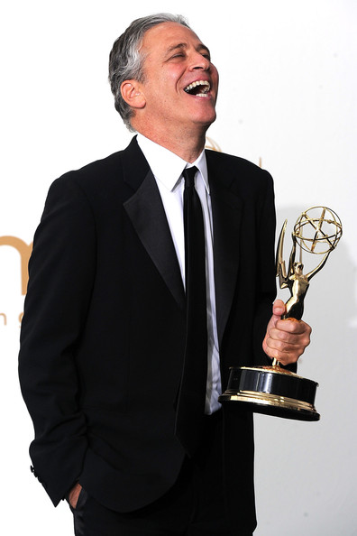 Executive producter/TV host Jon Stewart of 'The Daily Show With Jon Stewart' poses in the press room after winning outstanding variety, music or comedy series 2011 during the 63rd Annual Primetime Emmy Awards held at Nokia Theatre L.A. LIVE on September 18, 2011 in Los Angeles, California.