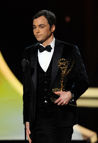 Actor Jim Parsons accepts the Outstanding Lead Actor in a Comedy Series award onstage during the 63rd Annual Primetime Emmy Awards held at Nokia Theatre L.A. LIVE on September 18, 2011 in Los Angeles, California.