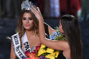 Miss Colombia 2015, Ariadna Gutierrez (L), is crowned the new Miss Universe by Miss Universe 2014 Paulina Vega after host Steve Harvey mistakenly named Gutierrez the winner instead of first runner-up during the 2015 Miss Universe Pageant at The Axis at Planet Hollywood Resort & Casino on December 20, 2015 in Las Vegas, Nevada. Miss Philippines 2015, Pia Alonzo Wurtzbach, (not pictured) was eventually named the winner.