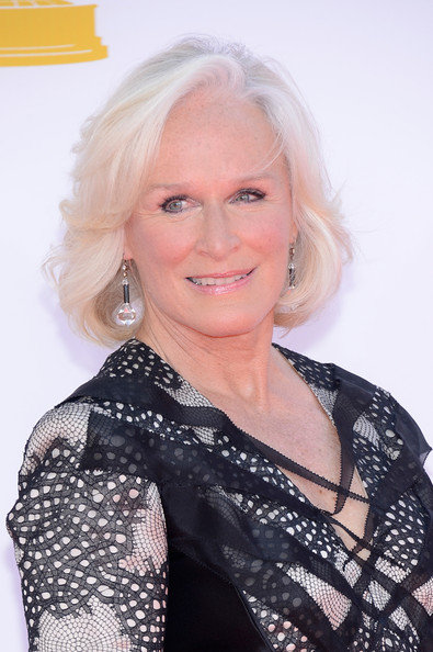 Actress Glenn Close arrives at the 64th Annual Primetime Emmy Awards at Nokia Theatre L.A. Live on September 23, 2012 in Los Angeles, California.