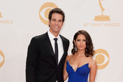 TV hosts Rob Marciano (L) and Rocsi Diaz arrive at the 65th Annual Primetime Emmy Awards held at Nokia Theatre L.A. Live on September 22, 2013 in Los Angeles, California.