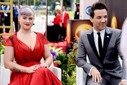 TV personalities Kelly Osbourne and George Kotsiopoulos attend at the 65th Annual Primetime Emmy Awards held at Nokia Theatre L.A. Live on September 22, 2013 in Los Angeles, California.