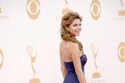 TV personality Maria Menounos arrives at the 65th Annual Primetime Emmy Awards held at Nokia Theatre L.A. Live on September 22, 2013 in Los Angeles, California.