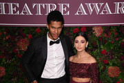 Jordan Spence and Naomi Scott attend the 65th Evening Standard Theatre Awards at London Coliseum on November 24, 2019 in London, England.