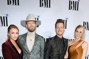(L-R) Brittany Kelley. Brian Kelley, Tyler Hubbard and Hayley Hubbard attend the 66th Annual BMI Country Awards at BMI on November 13, 2018 in Nashville, Tennessee.