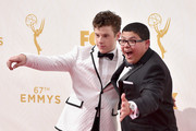 Actors Nolan Gould (L) and Rico Rodriguez attend the 67th Emmy Awards at Microsoft Theater on September 20, 2015 in Los Angeles, California. 25720_001