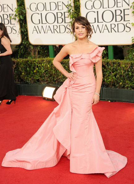 Actress Lea Michele arrives at the 68th Annual Golden Globe Awards held at The Beverly Hilton hotel on January 16, 2011 in Beverly Hills, California.