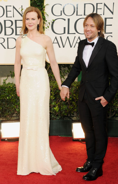 Actress Nicole Kidman (L) and singer Keith Urban arrive at the 68th Annual Golden Globe Awards held at The Beverly Hilton hotel on January 16, 2011 in Beverly Hills, California.