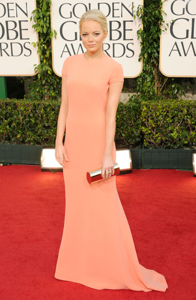 Actress Emma Stone arrives at the 68th Annual Golden Globe Awards held at The Beverly Hilton hotel on January 16, 2011 in Beverly Hills, California.