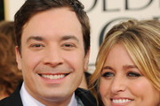Actor Jimmy Fallon (L) and wife producer Nancy Juvonen arrives at the 68th Annual Golden Globe Awards held at The Beverly Hilton hotel on January 16, 2011 in Beverly Hills, California.