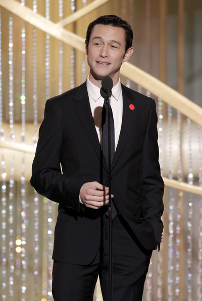 In this handout photo provided by NBC, Presenter Joseph Gordon-Levitt speaks onstage during the Golden Globes at the Beverly Hilton International Ballroom on January 16, 2011 in Beverly Hills, California.