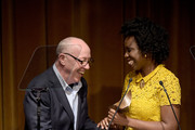 Terry George and Adepero Oduye speak onstage during the 68th Annual Writers Guild Awards at Edison Ballroom on February 13, 2016 in New York City.
