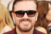 Actor Ricky Gervais arrives at the 69th Annual Golden Globe Awards held at the Beverly Hilton Hotel on January 15, 2012 in Beverly Hills, California.