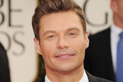 TV personality Ryan Seacrest arrives at the 69th Annual Golden Globe Awards held at the Beverly Hilton Hotel on January 15, 2012 in Beverly Hills, California.