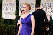 Actress Laura Linney arrives at the 69th Annual Golden Globe Awards held at the Beverly Hilton Hotel on January 15, 2012 in Beverly Hills, California.