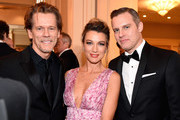 (L-R) Actors Kevin Bacon, Natalie Zea and Travis Schuldt attend the 70th Annual Directors Guild Of America Awards at The Beverly Hilton Hotel on February 3, 2018 in Beverly Hills, California.