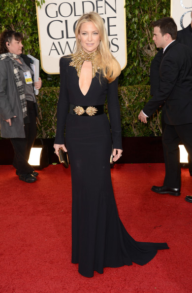 Actress Kate Hudson arrives at the 70th Annual Golden Globe Awards held at The Beverly Hilton Hotel on January 13, 2013 in Beverly Hills, California.